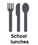 School lunch icon